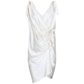 Donna Karan Off White Midi Dress