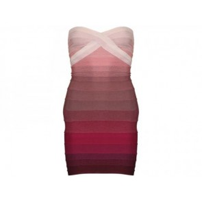 Herve Leger Maroon Midi Dress