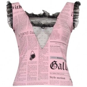 John Galliano Pink Sleeveless