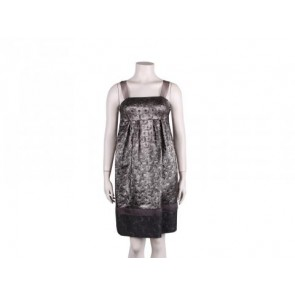 Lela Rose Silver Midi Dress