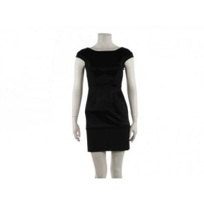Zac Posen Black Midi Dress
