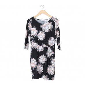 Wallis Black Floral Mini Dress