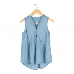 Anthropologie Holding Horses Blue Sleeveless