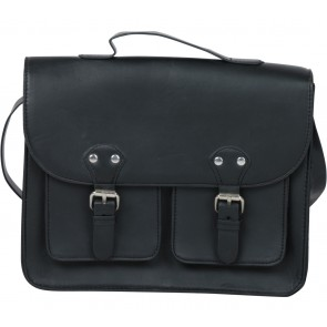 Divided Black Satchel