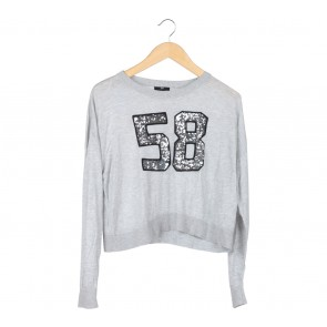 H&M Grey Number Sweater