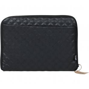 Typo Black Quilted Pouch