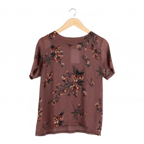 Zara Brown Floral Blouse