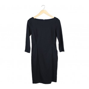 COS Black Midi Dress