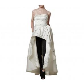 Askiasan Black And White Diore Ballgown with Pants  Two Piece