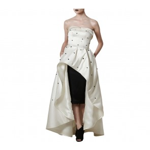 Askiasan Black And White Diore Ballgown with Short Pencil Skirt  Two Piece