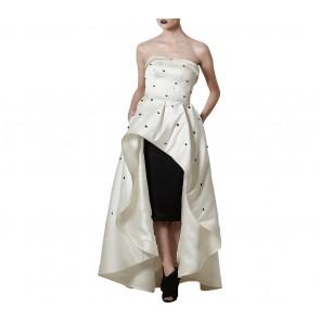 Askiasan Black And White Diore Ballgown with Short Pencil Skirt  Two Piece