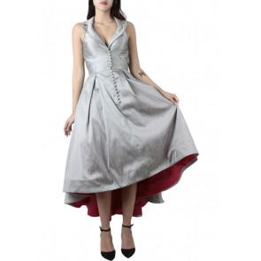Askiasan Silver Collar  Midi Dress