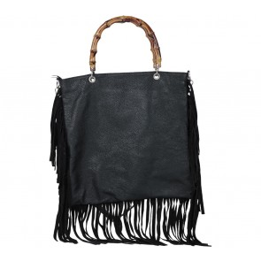 George G. Love Black Fringe Handbag