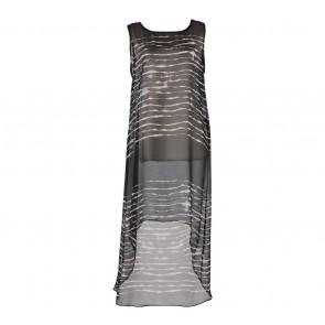 Zara Black And White Asymmetric Sleeveless Midi Dress
