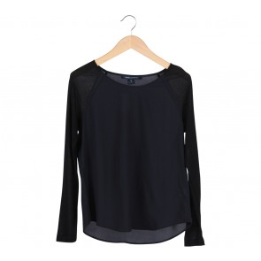 French Connection Black Combi Blouse