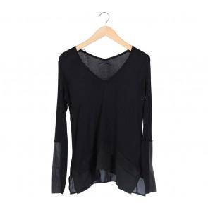 Zara Black Combi Blouse
