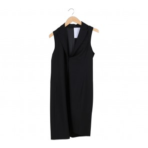 Theory Black Long Vest