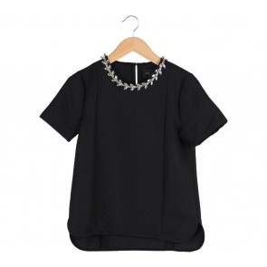 Romeo and Juliet Couture Black Necklace Blouse