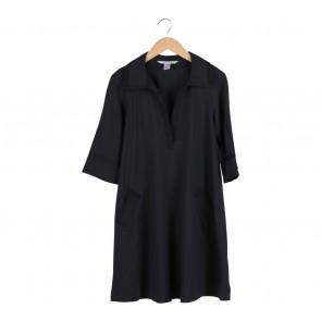 Diane Von Furstenberg Black Pocket Midi Dress