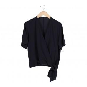 Zara Black Wrap Blouse