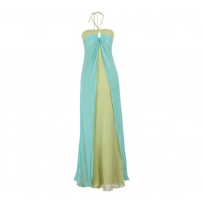 Laundry by Shelli Segal Green And Blue Long Dress