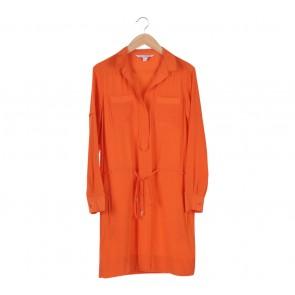 Diane Von Furstenberg Orange Midi Dress