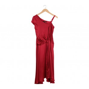 Single Dress Red One Shoulder Long Dress
