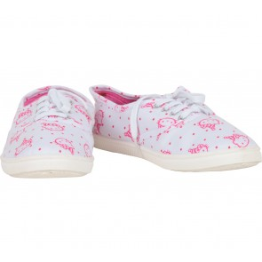 Rubi White And Pink Hello Kitty Sneakers