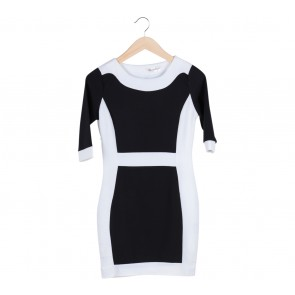 Chocochips Black Colorblock Mini Dress