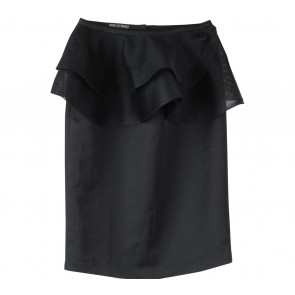 Marie & Frisco Black Peplum Skirt