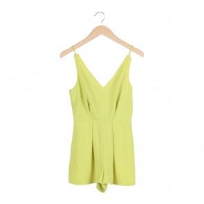 Topshop Green Lace Insert Jumpsuit