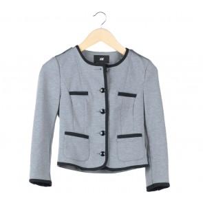 H&M Grey And Black Trim Blazer