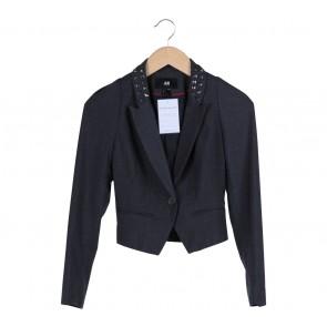 H&M Grey Studded Blazer