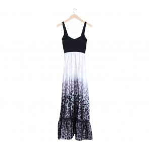 Bebe Multi Colour Animal Print Sleeveless Long Dress