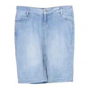 Zara Blue Washed Mini Skirt