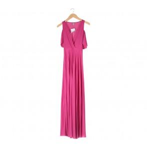 Asos Pink Off Shoulder Long Dress