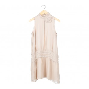 Zara Cream Sleeveless Mini Dress
