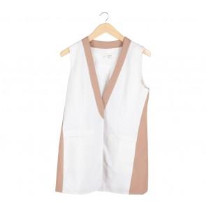 (X)SML White And Brown Vest