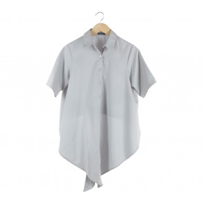 Chlorine Grey Tied Shirt