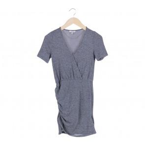 Zara Grey Wrap Mini Dress