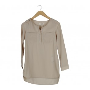 (X)SML Cream Tunic Blouse