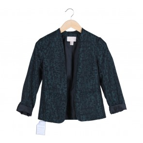 H&M Black And Green  Pleated Blazer