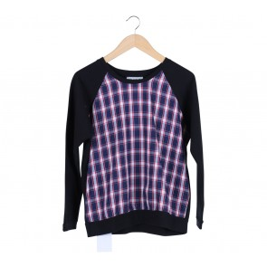 Cotton Ink Black Plaid Sweater