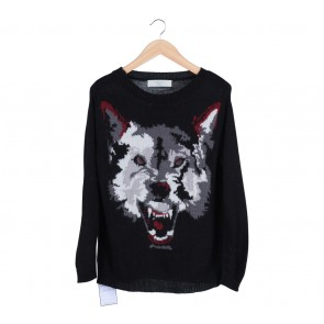 Zara Black Wolf  Knitted Sweater