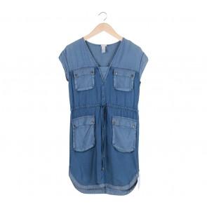 H&M Blue Denim Mini Dress