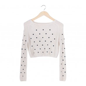 Zara Cream Dotted Sweater
