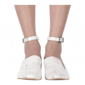 Massicot White Marble Heels