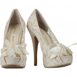 Chinese Laundry Cream Lace Heels