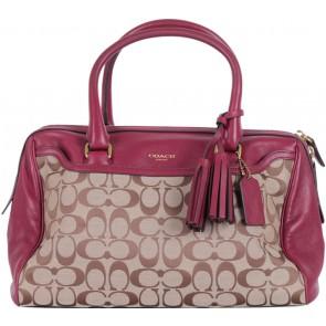 Coach Red Monogram Tassel Handbag
