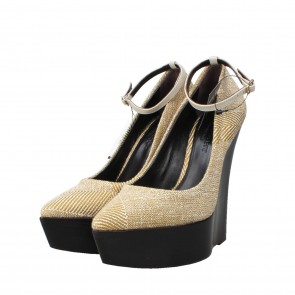Burberry Spring Cream Check Leicester Wedges